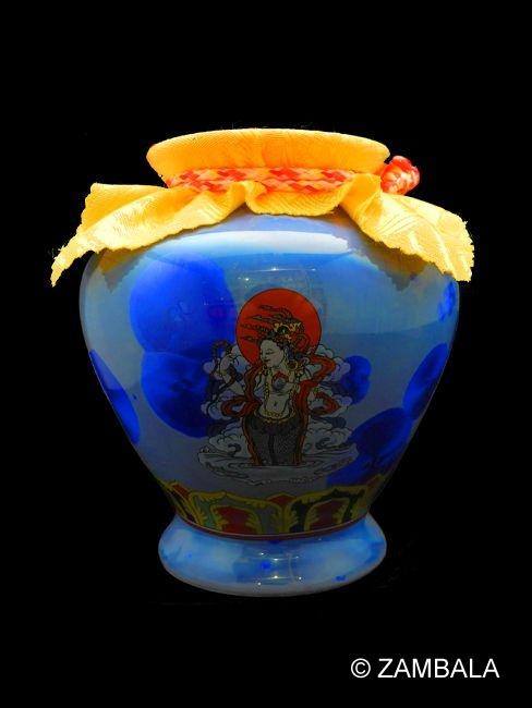 Naga Blessed Treasure Vase L Dharma Items Buddhist Artifacts
