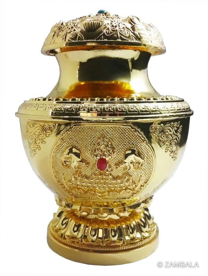 Zambala Non Con Treasure Vase Gold Plated Dharma Items Buddhist