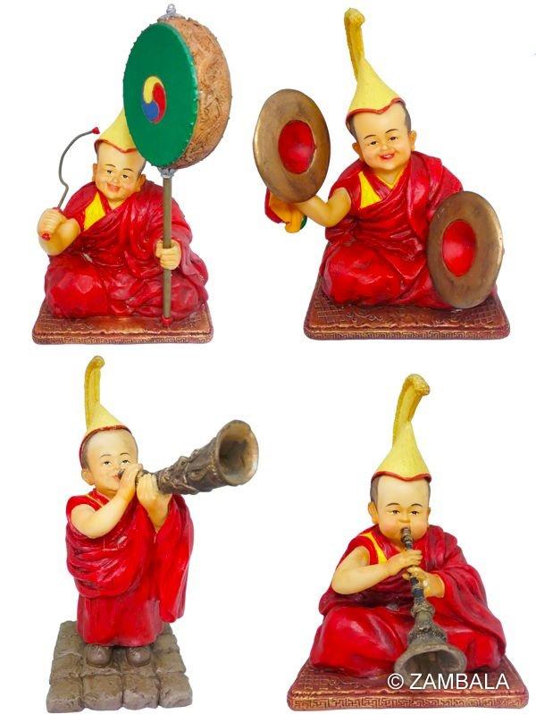 Lama w/ musical instrument set Dharma Items/ Buddhist Artifacts