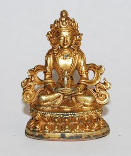 Amitayus Gilt Copper 2〝 Statue (II)