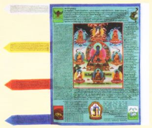 Medicine seven Buddha Prayer flag